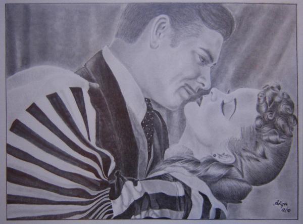 Vivien Leigh, Clark Gable by Adiya